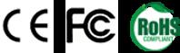 CE, FCC, RoHS
